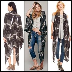 FREE PEOPLE ✌️ Patchwork Print Duster NWOT Patchwork panels lend bohemian charm to a lightweight Free People cardigan. A shawl collar frames the open placket, and the long sleeves are divided for fluid drape. Overlapping panels detail the split back seams.  Fabric: Plain weave. 100% rayon. Hand wash. Imported, China.  MEASUREMENTS Length: 46in / 117cm, from shoulder Free People Jackets & Coats