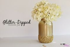 jars dipped in glitter - Google Search