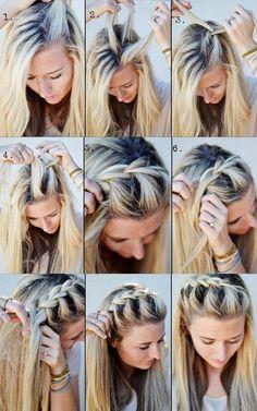 Easy No Heat Hairstyles For Medium Or Long Length Hair - Hair Styles For School No Heat Hairstyles, Diy Hairstyles, Pretty Hairstyles, Hairstyle Tutorials, Braid Tutorials, Beauty Tutorials, Summer Hairstyles, Wedding Hairstyles, Quick Easy Hairstyles