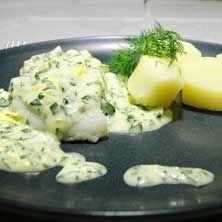 Kokt torsk med ägg och persiljesås - Recept - Tasteline.com