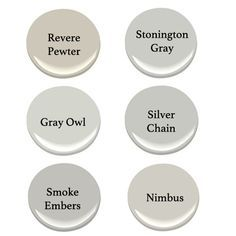 Colors Of Gray Paint favorite graysbenjamin moore. revere pewter, chelsea gray