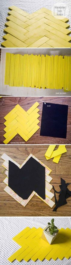 DIY Paint Stick Table Runner | 17 Amazing DIY Paint Chip Projects