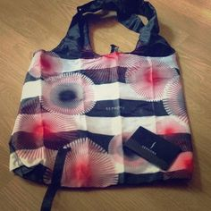 Sephora tote with sephora mirror Red and black stripe sephora tote with a mirror sephora Bags Totes