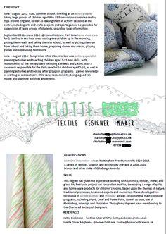 textile designer cv cv pinterest