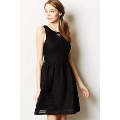 anthropologie • tank dress black textured. wore a few times Anthropologie Dresses