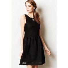 anthropologie • tank dress Black textured Anthropologie Dresses