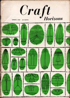 patterns / collections / anthropomorphized geometry / misregistration  Craft Horizons magazine, Spring 1949.