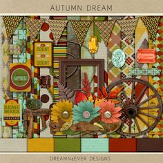 Scrapbooking TammyTags -- TT - Designer - Dreamn4Ever Designs, TT - Item - Kit or Collection, TT - Style - Mini Kit or Sampler, TT - Theme - Autumn or Thankgsgiving