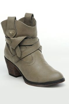 Rocket Dog Sayla Booties In Mushroom. Simple, but it's all about the details.