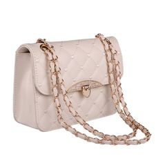 Qianle Fashion Women Girl PU Leather Plaid Handbag Chain Messenger Shoulder Bag *** To view further for this item, visit the image link.