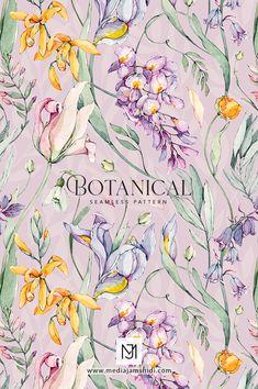 Textile Pattern Design, Flower Pattern Design, Textile Patterns, Print Patterns, Pattern Designs, Floral Patterns, Sewing Patterns, Painting Wallpaper, Watercolor Artwork