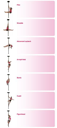Pole Dance Training - Intermediate poses part 2