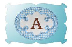 Free Embroidery Design: Cute Swirl Frame 1 Monogram - I Sew Free