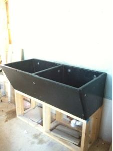 Stone Laundry Sink : ... Old sink renovations on Pinterest Stone Sink, Sinks and Garden Ideas