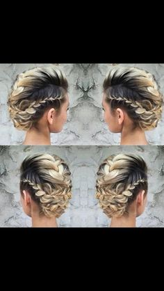 There are three things every bride wants in her wedding-day hairstyle: a look that is timeless AND trendy, has lots of volume and lasts all night long. In this video, Lala Kaszoni (aka Lala's Updos) w Mohawk Braid, French Braid Hairstyles, Box Braids Hairstyles, Braided Hairstyles Tutorials, Party Hairstyles, Hair Tutorials, Viking Hair, Bridal Braids, Braids For Short Hair