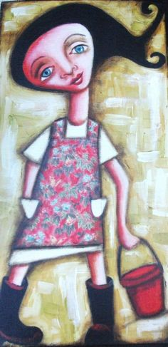 Quirky painting by Lyndy Wilson