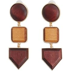 Geometric Earrings (61 ILS) ❤ liked on Polyvore featuring jewelry, earrings, cuff earrings, cuff jewelry, earrings jewellery, geometric earrings and earring jewelry