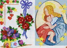 ru & Фото - A punto croce 27 - Los-ku-tik Madonna, Picasa Web Albums, Christmas Embroidery, Rose, Cross Stitch, Kids Rugs, Holy Family, Stitch Patterns, Angeles