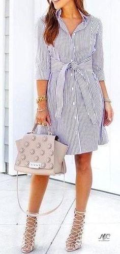 16 стильных вариантов платьев-рубашек, которые безумно популярны этим летом