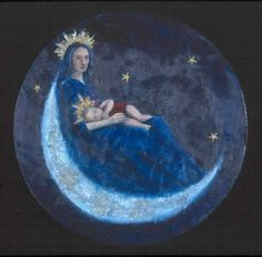 """For me, the moon is Mary."" Fr. Richard Tomasek, S.J.   9/15/1995"