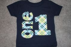 Boys Birthday Shirt for 1st or 2nd Birthdays by RightUpYourAli1