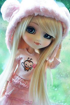 Let it rain! by ★ Sophia Vanille ★ Cute Cartoon Pictures, Cute Love Cartoons, Cute Cartoon Girl, Ooak Dolls, Blythe Dolls, Girl Dolls, Beautiful Barbie Dolls, Pretty Dolls, Cute Images For Dp