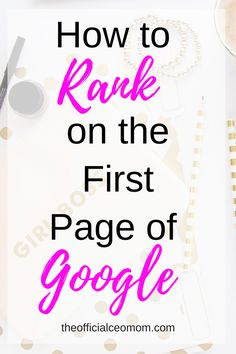 Use these 5 tips to learn how to rank on the first page of Google before you hit publish! SEO | Organic Search | Grow Traffic | Blogging Tips | Grow Blog Traffic