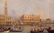 Ducal Palace, Venice, by (Giovanni Antonio Canal) Canaletto Rococo Painting, Oil Painting Reproductions, Venetian Painters, Italian Artist, Urban Landscape, Venice, Paris Skyline, Art Gallery, Paintings