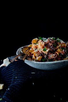 Slow Braised Beef Cheek Ragu with Parpadelle noodle | The Brick Kitchen