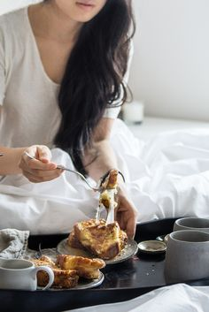 breakfast in bed | bacon and cheese stuffed french toast.