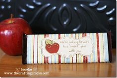 Sweet back-to-school treat idea for teachers. Inexpensive and easy to do. If you use Avery 8255 full-sheet labels to print the wrapper, no glue is needed. to school teacher gift Teacher's Gift Ideas Teacher Treats, School Treats, Great Teacher Gifts, School Gifts, Teacher Appreciation Gifts, Back To School Crafts, Back To School Teacher, School Fun, School Stuff