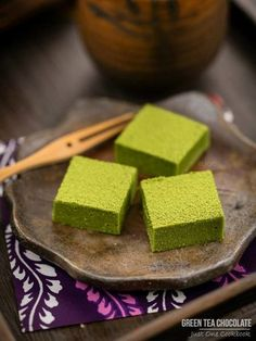 Green tea chocolate recipe- sub white chocolate for cocoa butter!