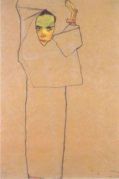 Self Portrait, 1910 Egon Schiele