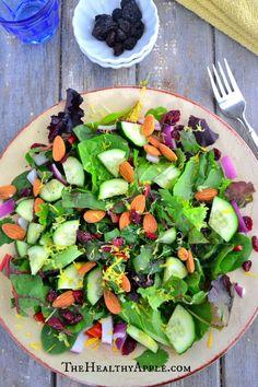 Cranberry, Swiss Chard & Almond Salad