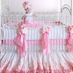 Rose Petals Silk Crib bedding.  Don't even ask what it costs!!