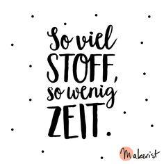 So viel Stoff, so wenig Zeit - via Makerist.de