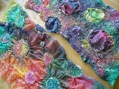 painted silks and nuno felting