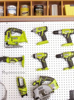 Install a pegboard - An easy way to keep your tools organized!