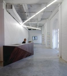 reception desk- warehouse/loft type space