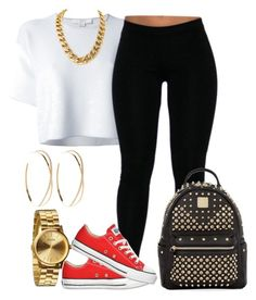 """""""Oh. -_-"""" by jaziscomplex ❤ liked on Polyvore featuring Alexander Wang, Converse, Nixon, Lana and MCM"""
