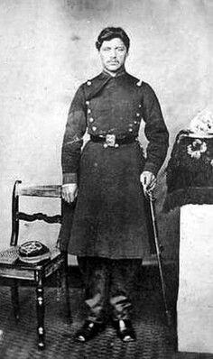 Soldado sin identificar del Regimiento Carabineros de Yungay, año 1879