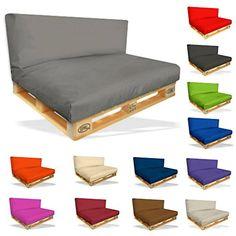 palettenkissen 2er set sitzpolster 120x80x15cm r ckenkissen 120x40x10cm farbe schwarz in. Black Bedroom Furniture Sets. Home Design Ideas