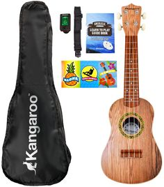 Now you can win one of the biggest talent shows in America with Kangaroo's ukulele instrument! Play for your friends or take it on a plane to Hawaii. Kangaroo's faux wood musical ukulele is the perfect christmas gift this year for an aspiring young talent.