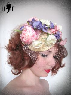 I want this hairstyle again... and this sweet fascinator by unusual  fascinators Floral 242590598bc1