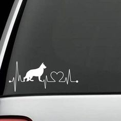 German Shepherd - German Shepherd Heartbeat Decal