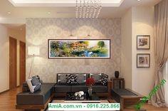 Tranh trang trí nội thất phòng khách ngôi nhà hạnh phúc thích hợp làm quà tặng…