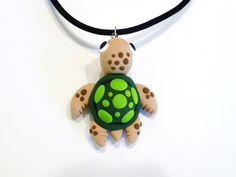Sea Turtle Necklace Get some Fimo clay and make your own.