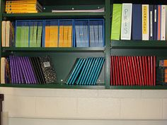 Colored duck tape to identify notebooks