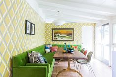 Great dining room idea for those who wish to tap into large, unused corner space! [Design: Mend]