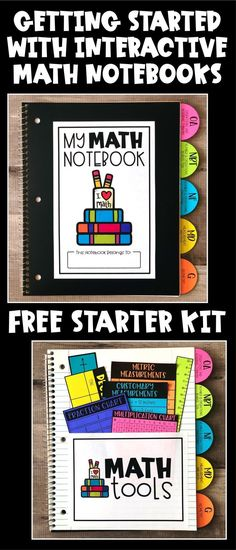 Get started with math interactive notebooks in your elementary classroom this school year!! Learn all about setting up math notebooks with students, with a cover, table of contents, divider tabs, and a selection of math tools. Plus, preview activities and templates for notebook pages for grades 2nd, 3rd, 4th, and 5th!! #interactivenotebooks #mathlessons